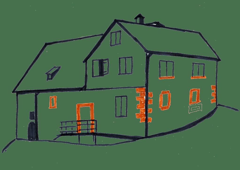 Skizze Pumpenhaus