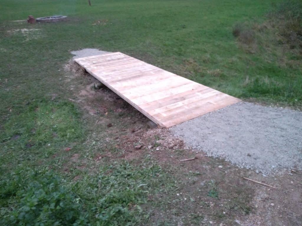 Fertige Brücke